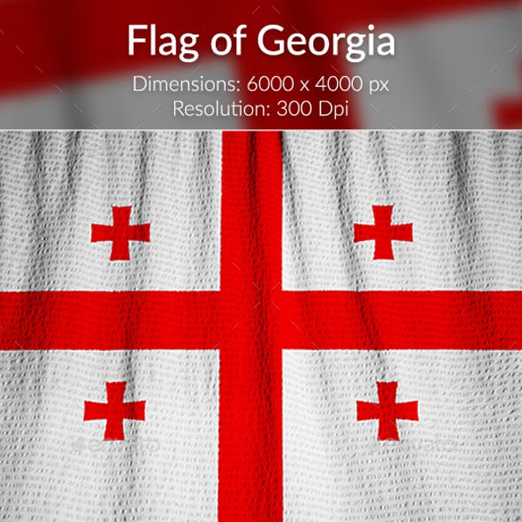 Ruffled Flag of Georgia