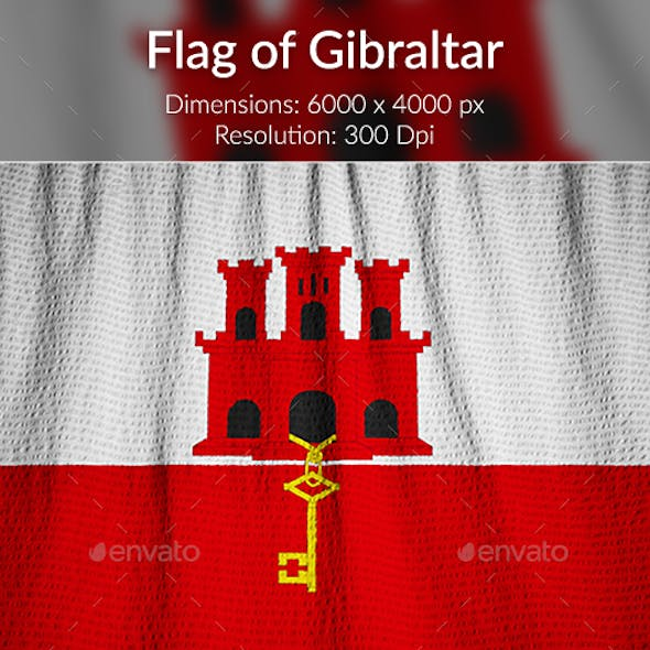 Ruffled Flag of Gibraltar