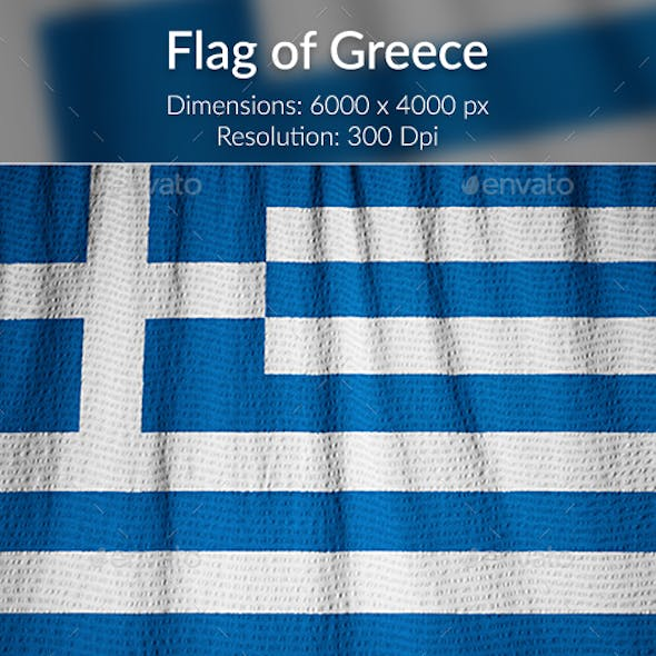 Ruffled Flag of Greece