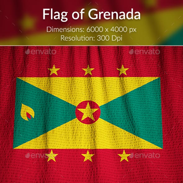 Ruffled Flag of Grenada