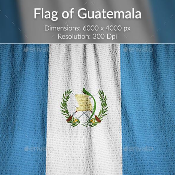 Ruffled Flag of Guatemala