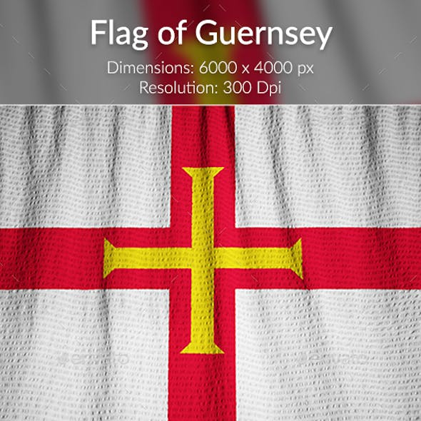 Ruffled Flag of Guernsey