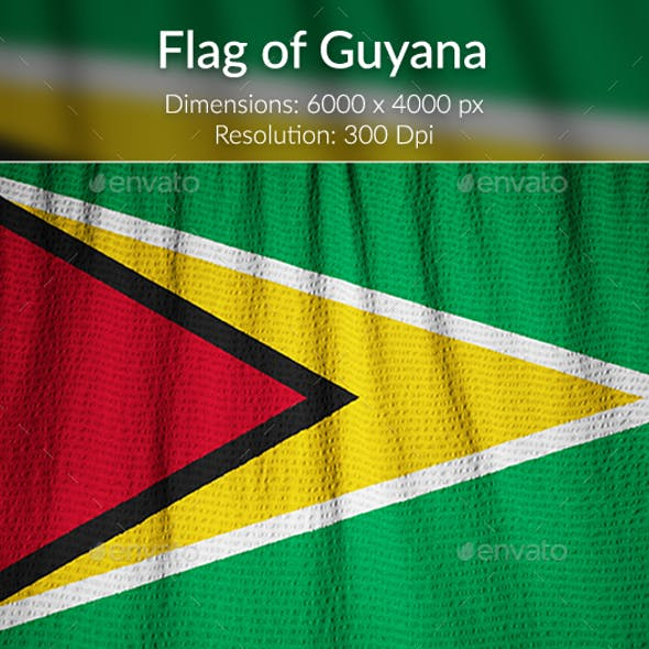 Ruffled Flag of Guyana