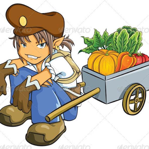 Merchant Selling Vegetables