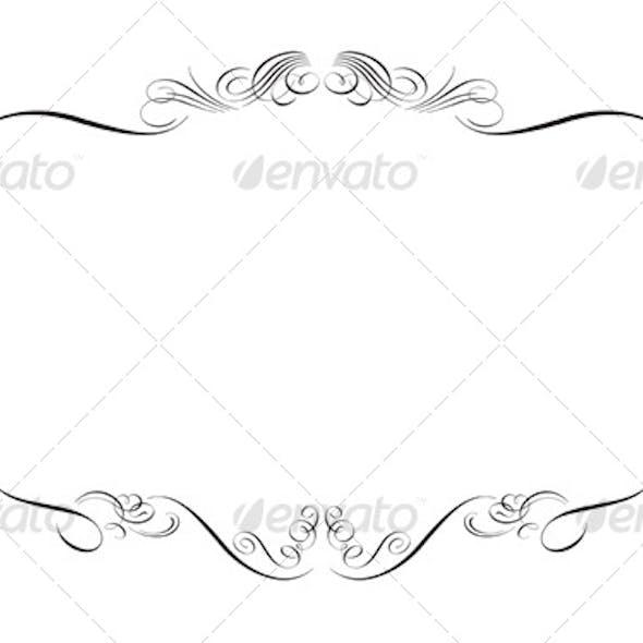 Swirly Floral Frame