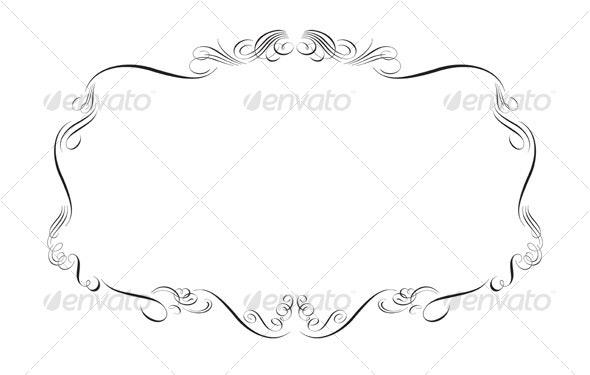 Swirly Floral Frame - Flourishes / Swirls Decorative