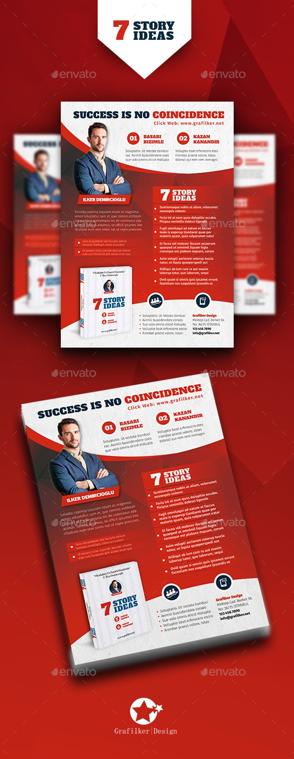 Book Advertising  Flyer Templates - Corporate Flyers
