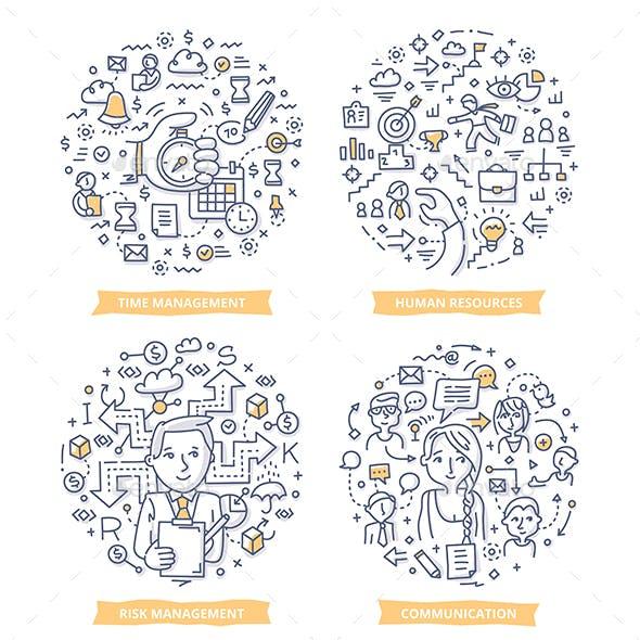 Project Management Doodle Illustrations