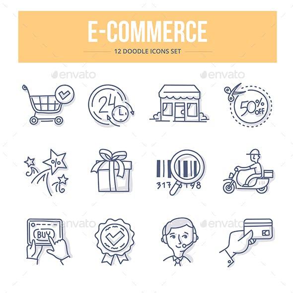 Ecommerce Doodle Icons