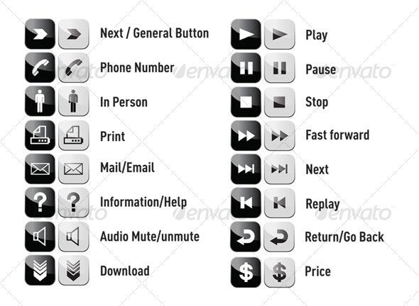 Glossy Web Icon Set - Miscellaneous Web Elements