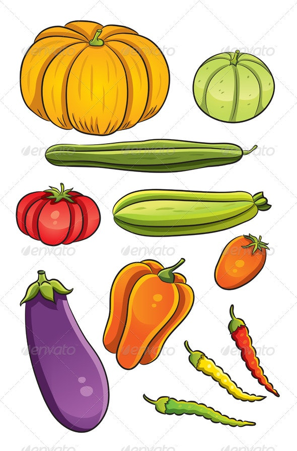 Vegetables Collection - Organic Objects Objects