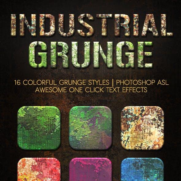 Industrial Grunge Layer Styles