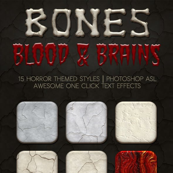 Bones, Blood and Brains Layer Styles