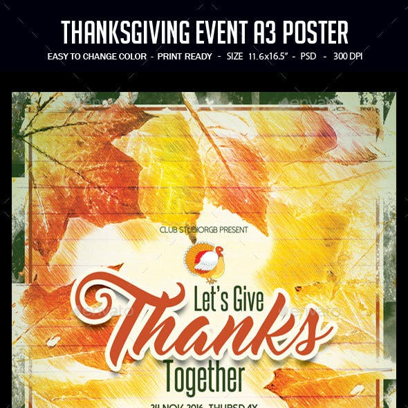 Thanksgiving Event A3 Poster