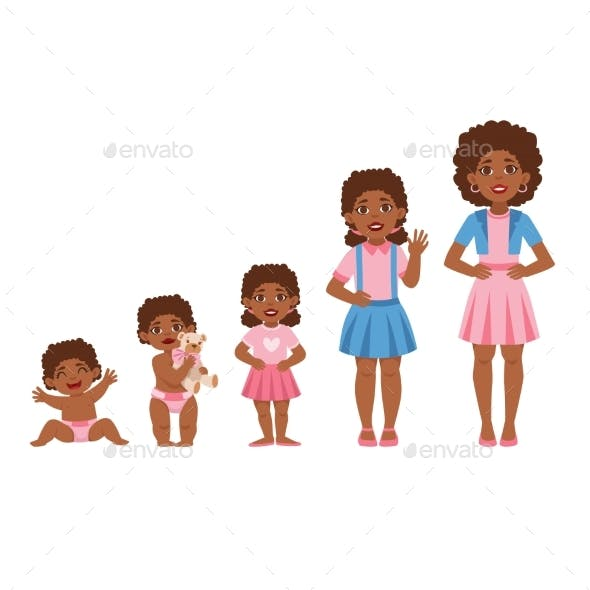 Girl Growing Stages