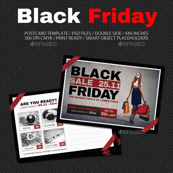 Black Friday Postcard Template V04