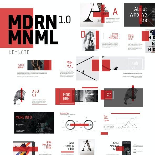 Mdrn Mnml Keynote Presentation Template