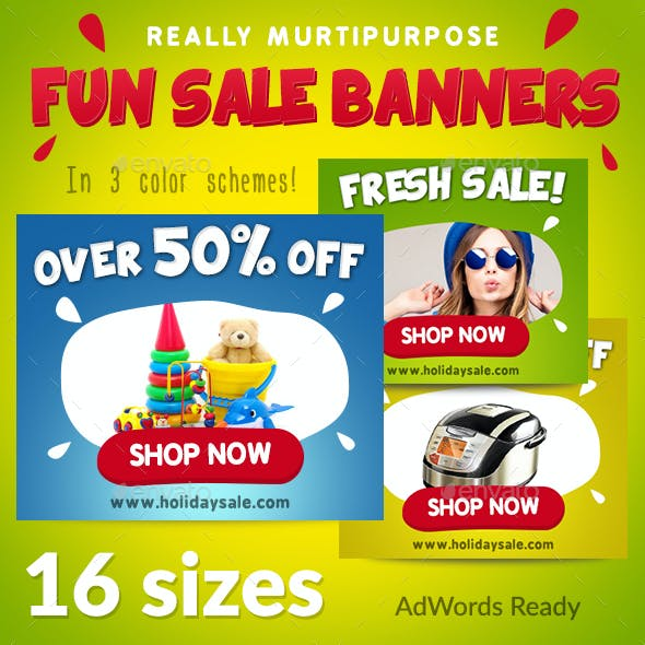 Fun Holidays Banners Set