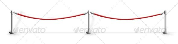 VIP Red Velvet Ropes - Objects Illustrations