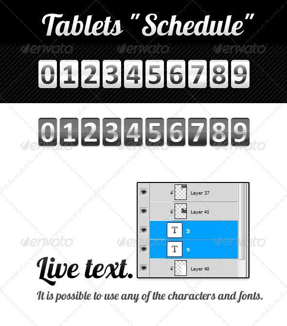 """Tablets """"Schedule"""" - Miscellaneous Web Elements"""