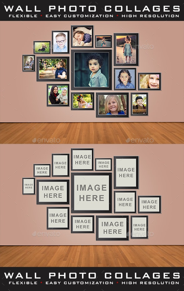 Wall Photo Collages - Miscellaneous Photo Templates
