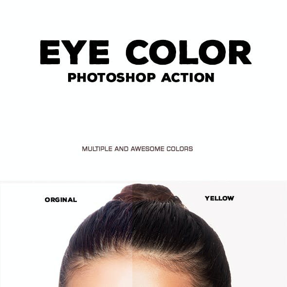 Eye Color - Photoshop Action #11