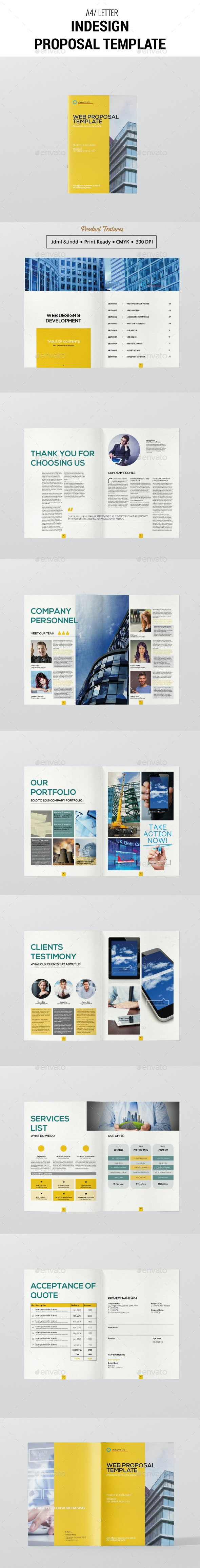 Indesign Proposal Template - Proposals & Invoices Stationery