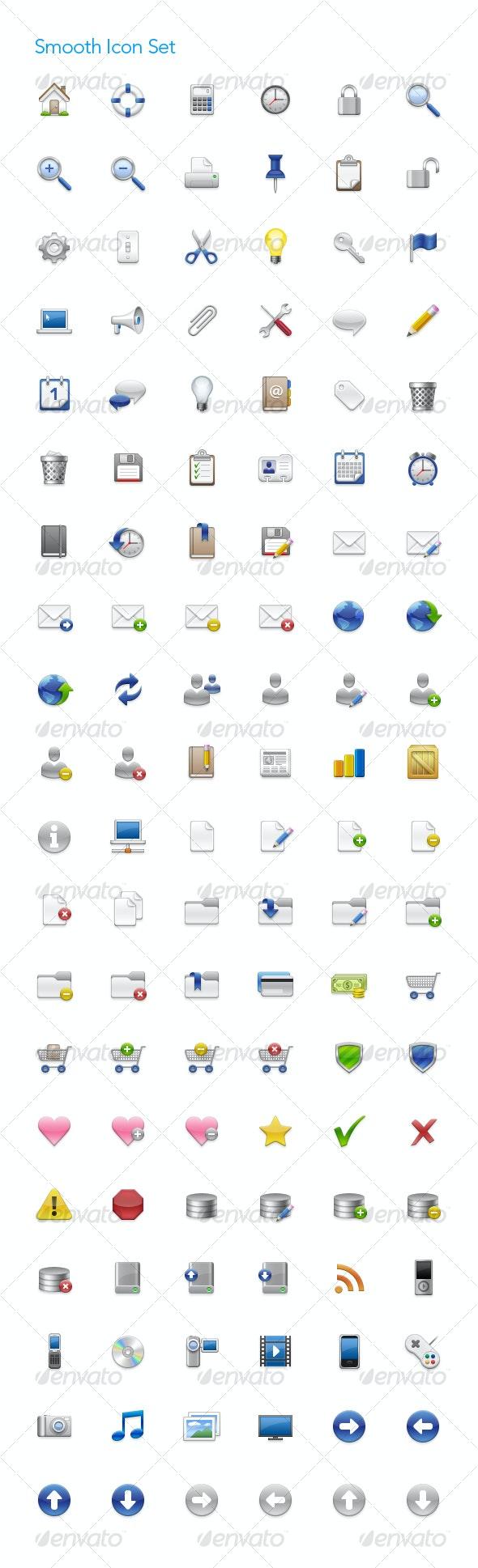 Smooth Icon Set - Web Icons