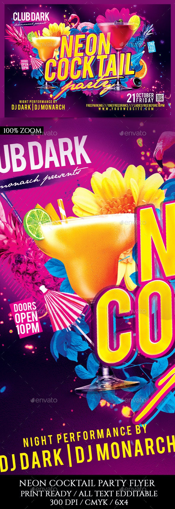 Neon Cocktail Party - Clubs & Parties Events