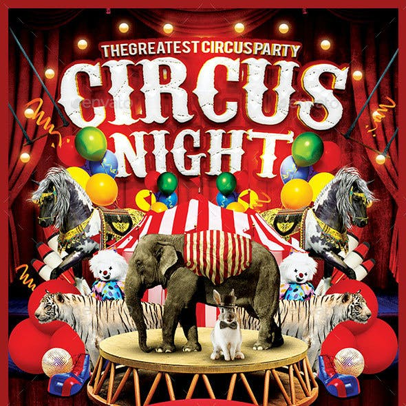 Circus Night Flyer