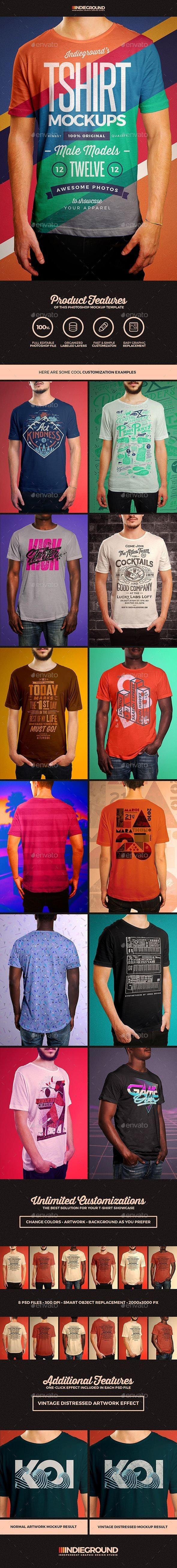 Men T-Shirt Mockups - T-shirts Apparel