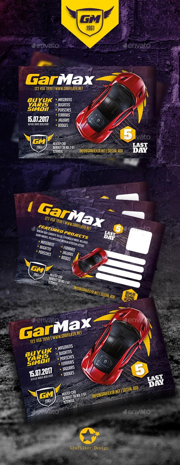 Auto Show Postcard Templates - Cards & Invites Print Templates