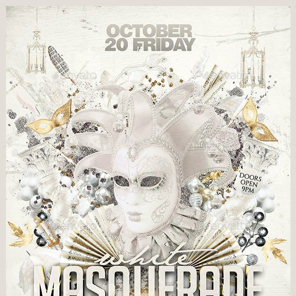 White Masquerade Party