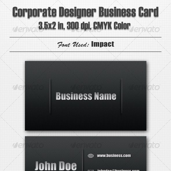 Corporate Designer Business Card