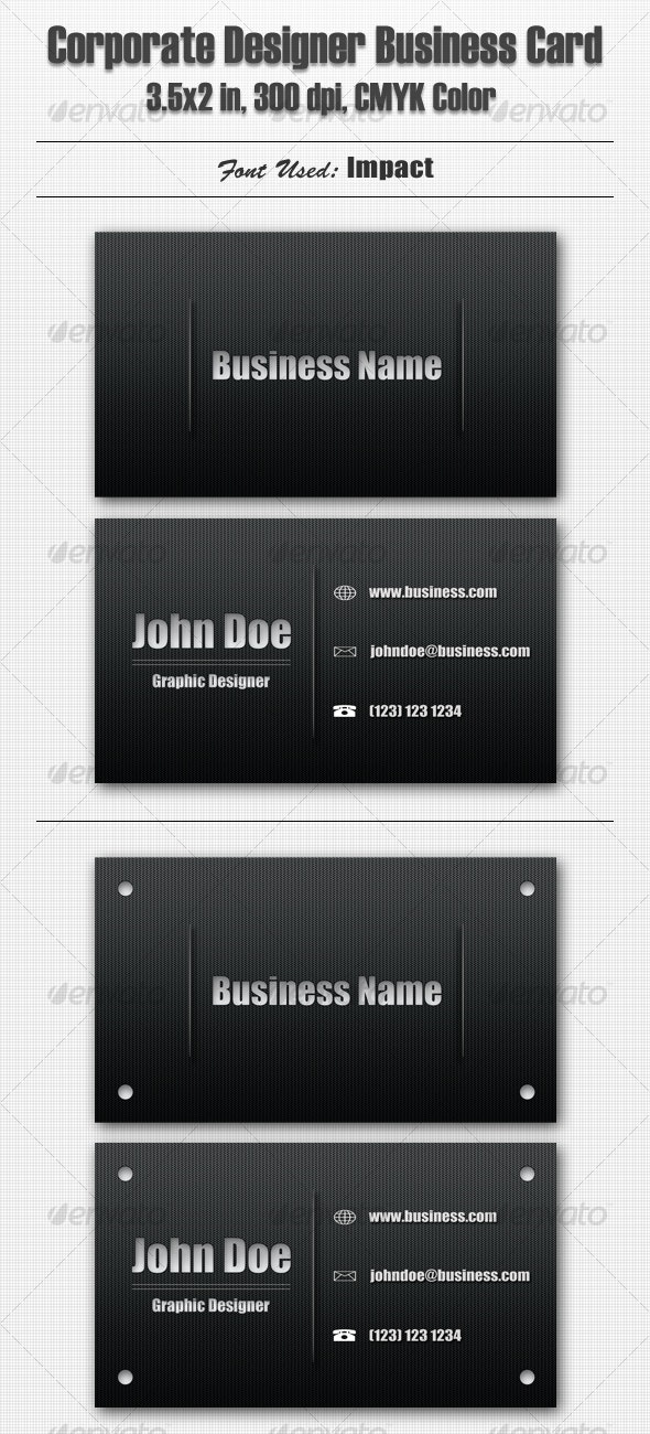 Corporate Designer Business Card - Corporate Business Cards
