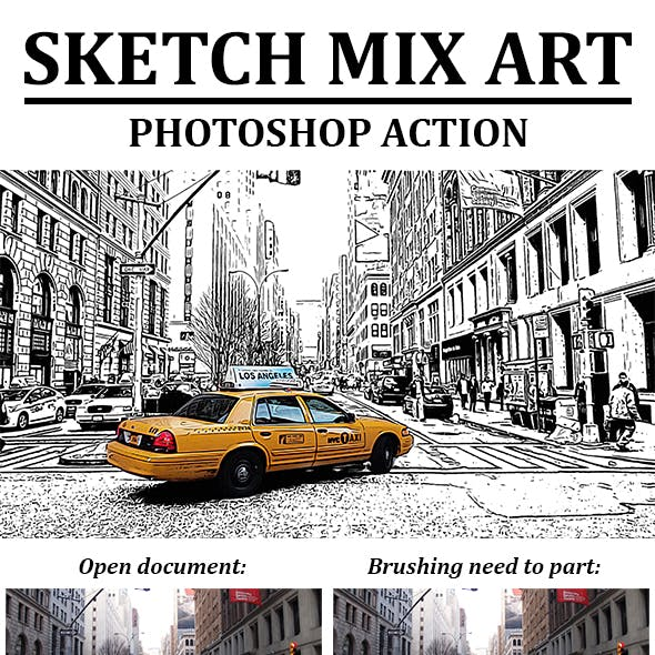 Sketch Mix Art Photoshop Action