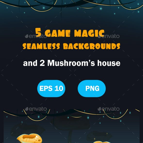 Magic Forest Seamless Backgrounds