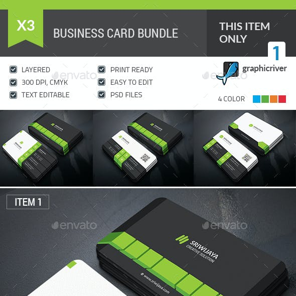 Dark Business Card Bundle
