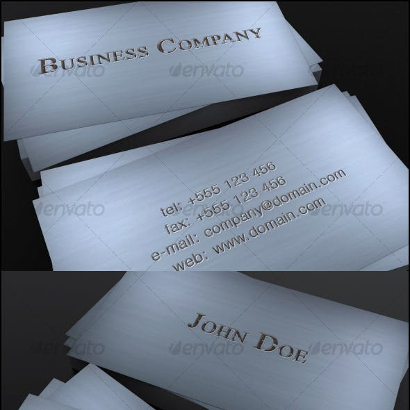 Rusty Metal business cards