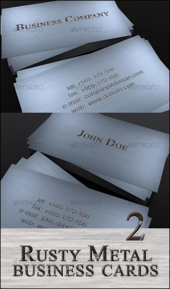 Rusty Metal business cards - Retro/Vintage Business Cards