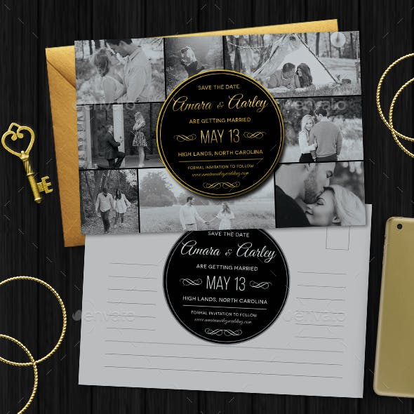 Elegant Save the Date Post Card