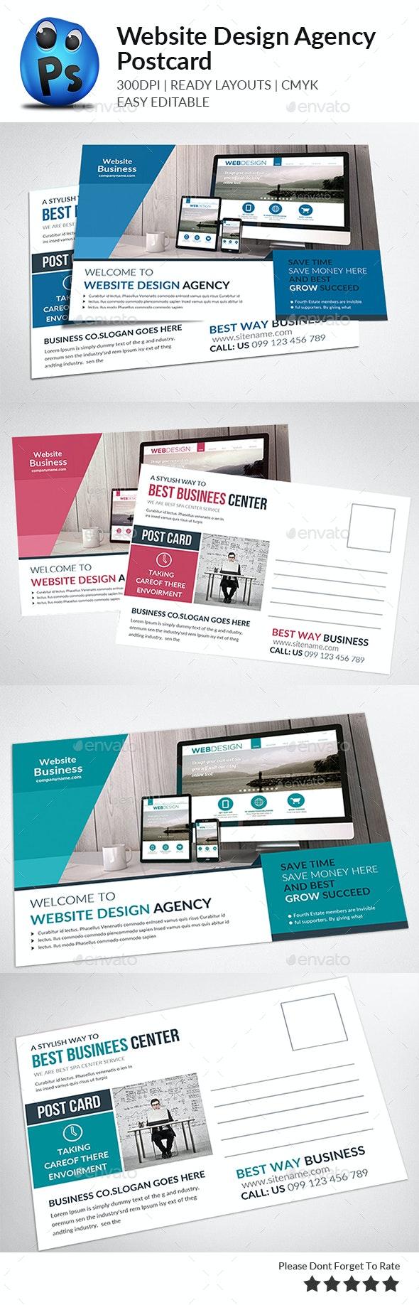 Website Design Agency Postcards - Cards & Invites Print Templates