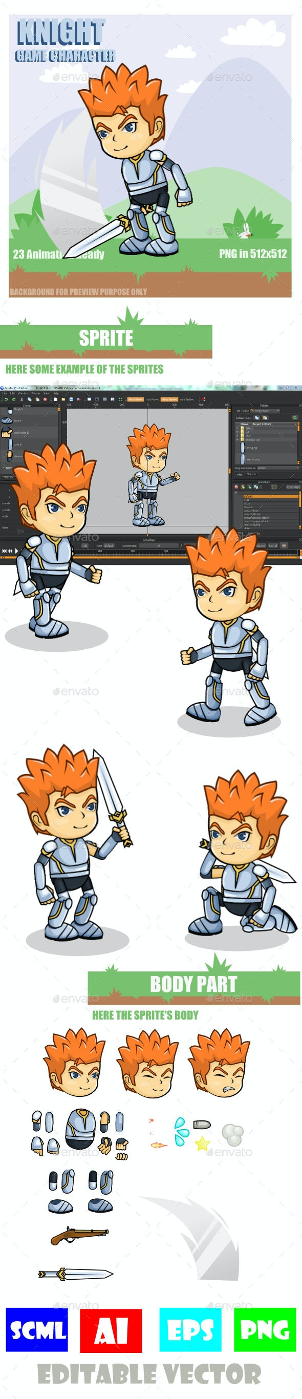 Warrior Sprite Sheet Character - Sprites Game Assets