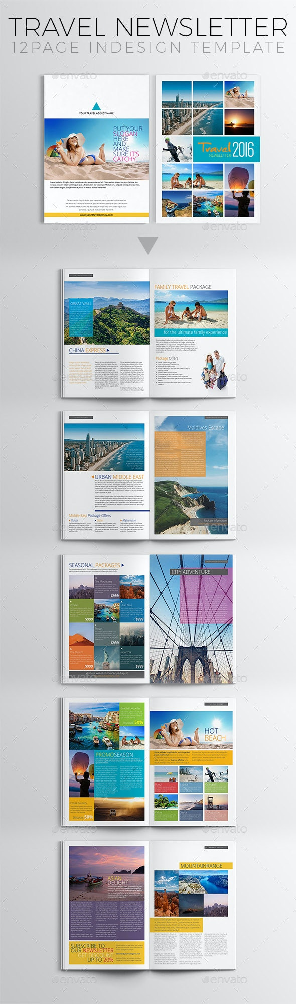 Travel Newsletter Template - Newsletters Print Templates