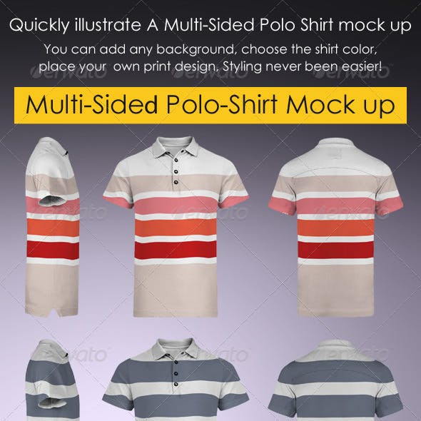 Multi-Sided Polo-Shirt Mock-Up
