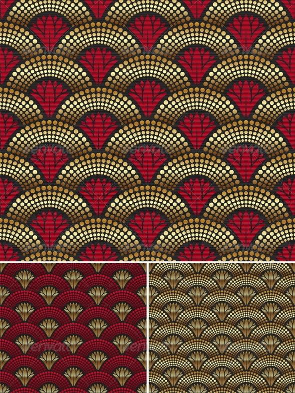 Seamless Decorative Golden Pattern - Decorative Vectors