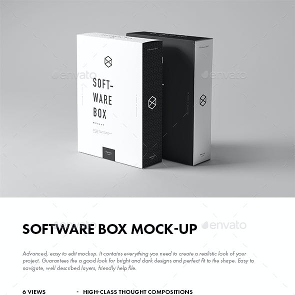 Software Box Mock-up