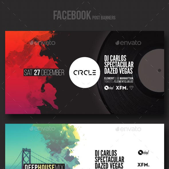 Electronic Music Party Vol3 - Facebook Post Banner Templates