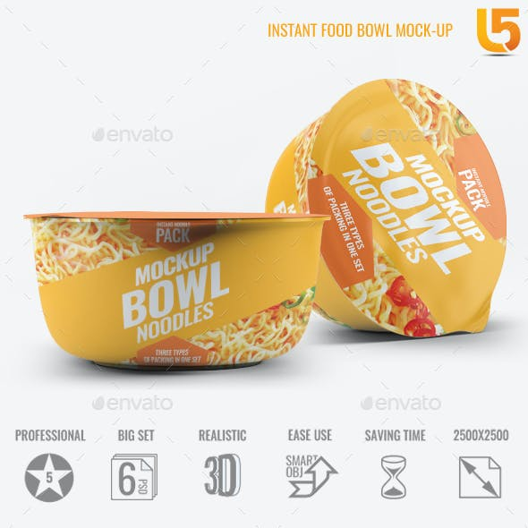 Instant Food Bowl Mock-Up
