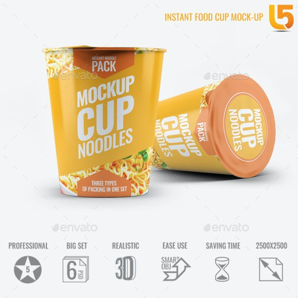 Instant Food Cup Mock-Up